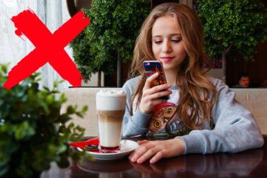 špatné návyky s mobilním telefonem zlé zlozvyky