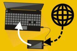tethering sdílení internetu z telefonu přes kabel