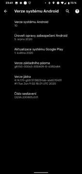 verze systemu android srpen 2020