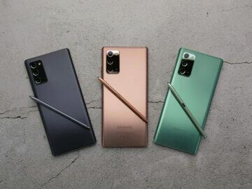 všechny varianty Galaxy Note 20