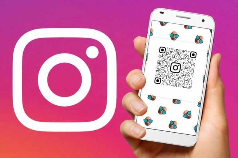 vyhledávání sledování instagram přes qr kód