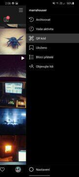 vyhledávání sledování instagram qr kód nastavení