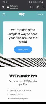 WeTransfer úvod