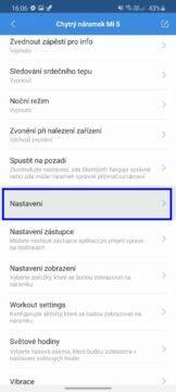 Xiaomi Mi Band 5 čeština Mi Fit nastavení