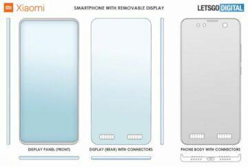 Xiaomi odnímatelný displej přední strany