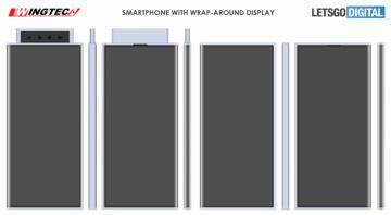 Xiaomi patent se třemi výsuvnými fotoaparáty výkres