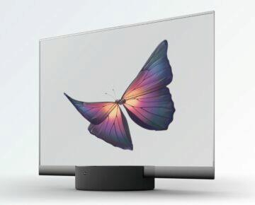 Xiaomi pruhledna OLED TV motyl