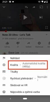 usetrit mobilni data youtube kvalita videa