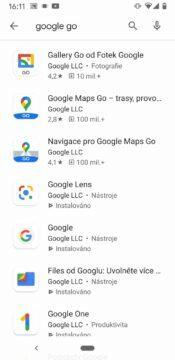 zrychleni starsiho telefonu android go aplikace