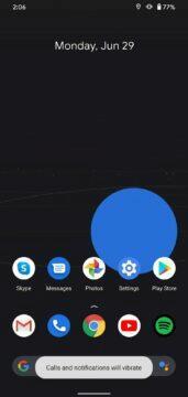 android 11 domovská obrazovka