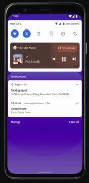 android 11 ovladani hudby