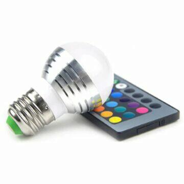 mini LED projektor Anbolt Barevná LED RGB žárovka s ovladačem