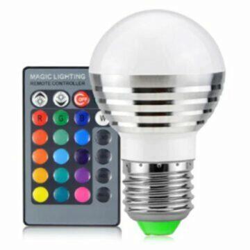 mini LED projektor Anbolt Barevná LED žárovka s ovladačem