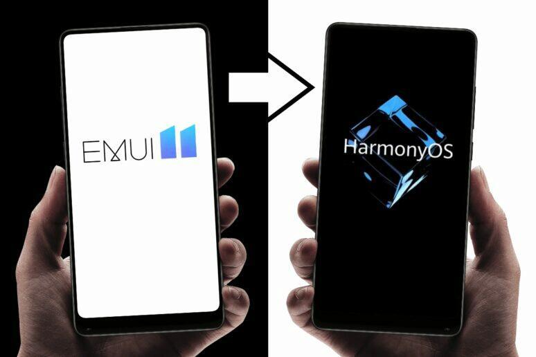 EMUI 11 HarmonyOS možnost přechodu