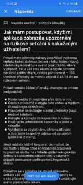 eRouška 2.1 nápověda