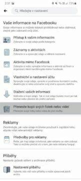 Facebook přenos fotek Fotky Google Dropbox aplikace