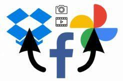 Facebook přenos fotek Fotky Google Dropbox návod