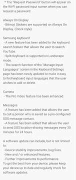 Samsung Galaxy Note10 aktualizace