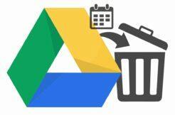 Google Disk koš časový limit