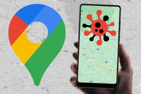 Google Mapy Covid-19 informace
