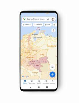 Google Mapy Covid-19 informace země a státy Jižní Amerika