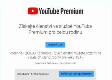 Google pro rodiny YouTube premium