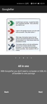 Googlefier instrukce