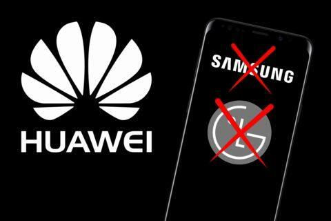 Huawei Samsung LG zastavení dodávek displejů