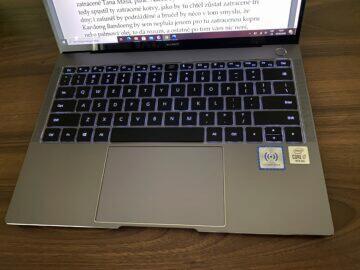 podsvícení klávesnice huawei matebook