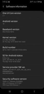 Levnější Samsung telefony dostávají One UI 2.1