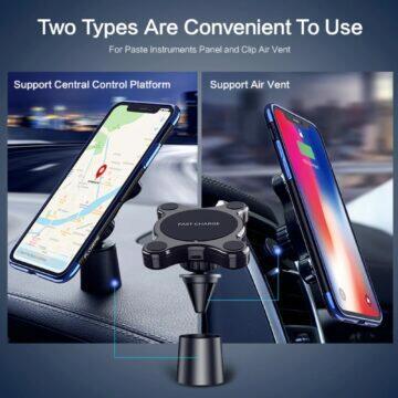 Bluedio US Magnetický držák bezdrátová nabíječka do auta Floveme
