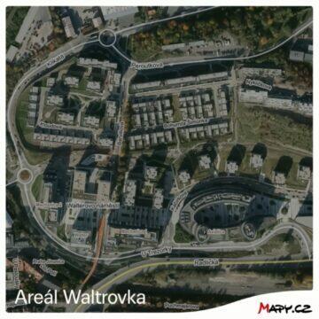 Mapy.cz nové letecké snímky z Čech areál Waltrovka nový snímek