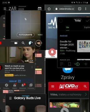 multitasking 8 aplikací