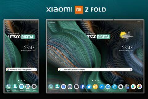 nadvakrát ohýbaný Xiaomi telefon patent