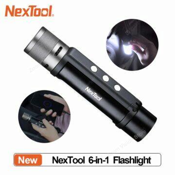 Elegantní bezdrátový reproduktor Leehur Outdoorová baterka NexTool s alarmem