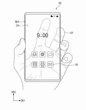 pruhledny telefon patent