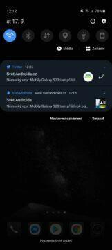 Push notifikace Twitter Chrome