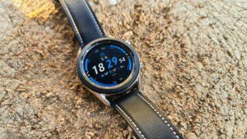 Samsung Galaxy Watch3 špalek modrý ciferník
