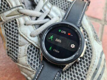 Samsung Galaxy Watch3 sport běh