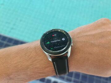 Samsung Galaxy Watch3 sport plavání
