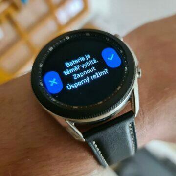 Samsung Galaxy Watch3 úsporný režim vybitá baterie