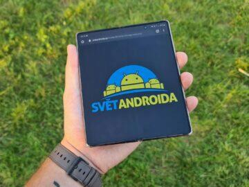 Samsung Galaxy Z Fold2 Svět Androida logo velký displej