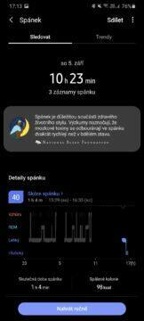 Samsung Health spánek