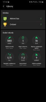 Samsung Health výkony