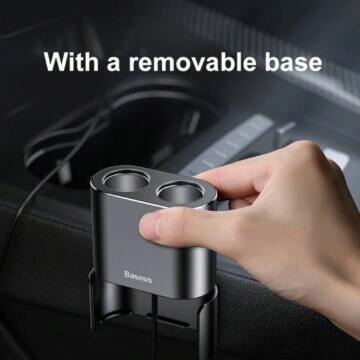 Bluedio US USB redukce a prodlužka 12V konektoru Baseus držák