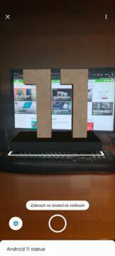 virtuální socha Android 11 AR