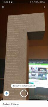 virtuální socha Android 11 seznam změn