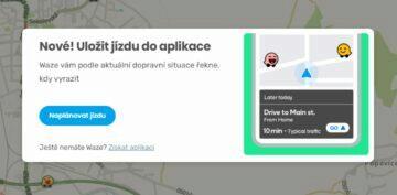 Waze převod trasy z počítače do mobilu