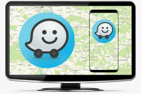 Waze převod trasy z počítače do mobilu náhled