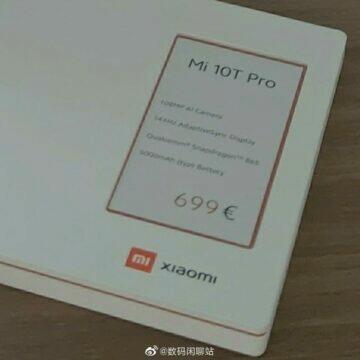 Xiaomi Mi 10T Pro míří do Evropy